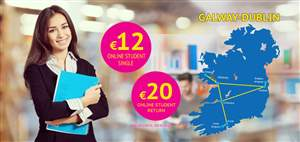 Galway to Dublin full student offer