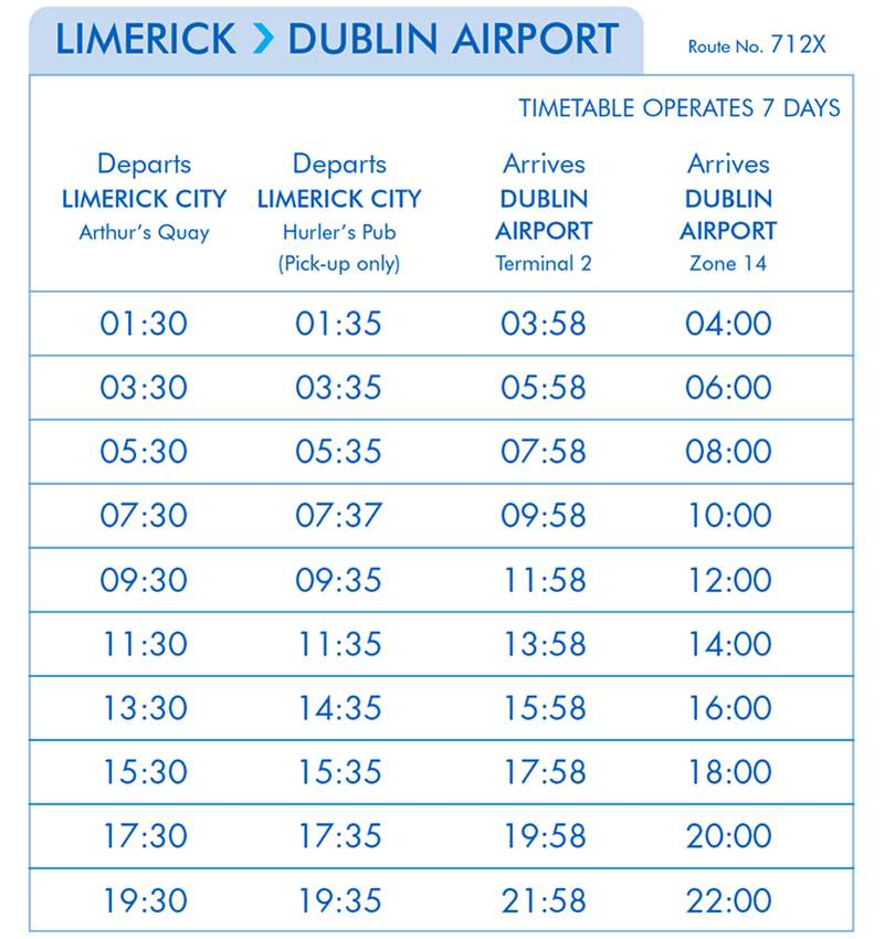 Limerick- Dublin Airport eireagle (Effective from the 12th of March)